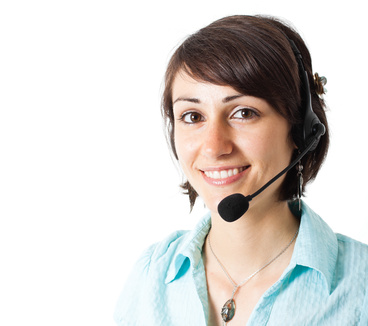 photo of lady with headset